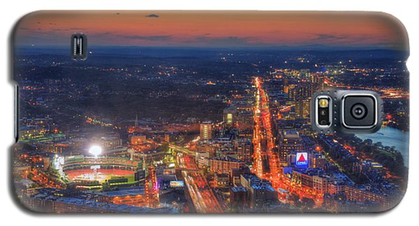 Sunset Over Fenway Park And The Citgo Sign Galaxy S5 Case by Joann Vitali