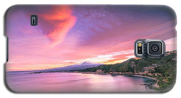 Sunset Over Giardini Naxos Galaxy S5 Case