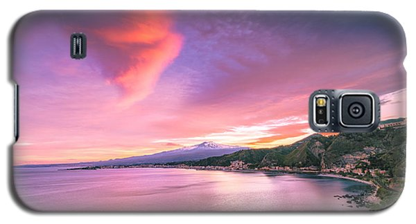 Sunset Over Giardini Naxos Galaxy S5 Case