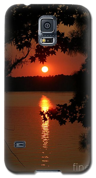 Sunset Over Lake Galaxy S5 Case by D Wallace