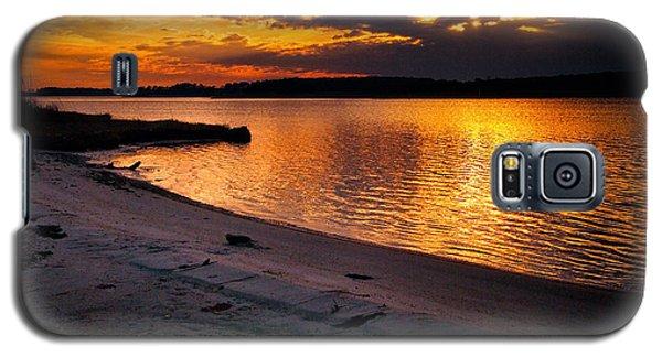 Sunset Over Little Assawoman Bay Galaxy S5 Case