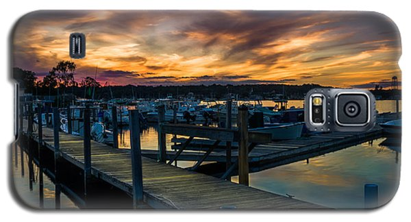 Sunset Over Marina On Mystic River Galaxy S5 Case
