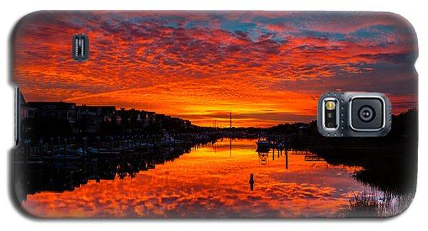 Sunset Over Morgan Creek - Wild Dunes Resort Galaxy S5 Case