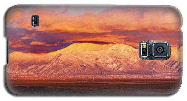 Sangre De Cristo Galaxy S5 Case - Sunset Over Mountain Range, Sangre De by Panoramic Images