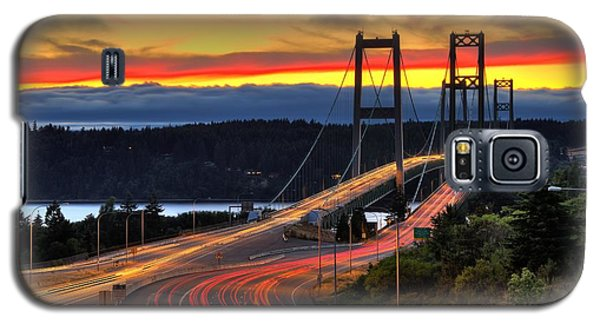 Sunset Over Narrows Bridges Galaxy S5 Case