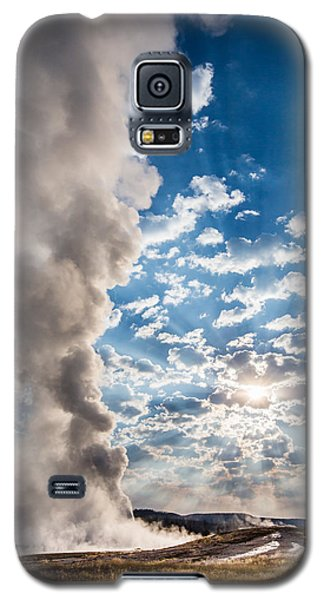 Sunset Over Old Faithful - Vertical Galaxy S5 Case by Andres Leon