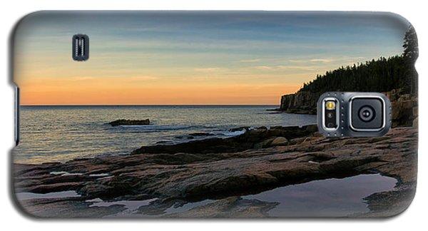 Sunset Over Otter Cliffs Galaxy S5 Case
