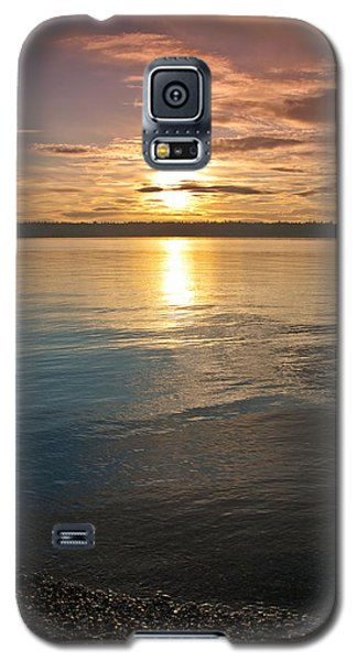 Sunset Over Puget Sound Galaxy S5 Case by Jeff Goulden