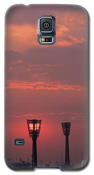 Galaxy S5 Case featuring the photograph Sunset Over Stadium by Mohamed Elkhamisy