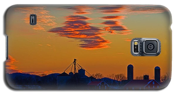Sunset Over The Farm Galaxy S5 Case