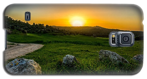 Sunset Over The Judean Hills Galaxy S5 Case