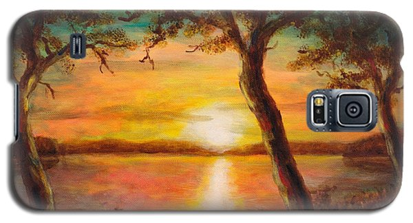 Sunset Over The Lake Galaxy S5 Case by Martin Capek