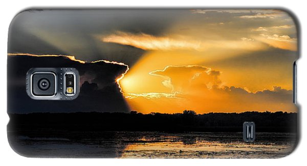 Sunset Over The Mead Wildlife Area Galaxy S5 Case