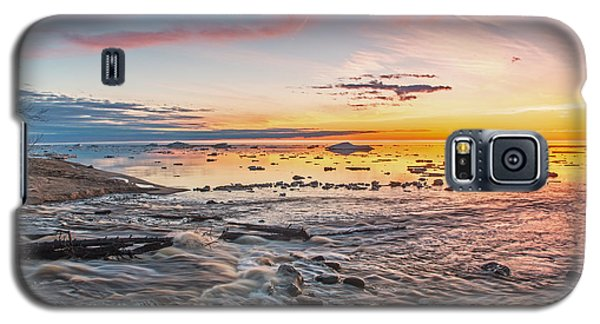 Sunset Over The Mouth Of The Hurricane River Galaxy S5 Case