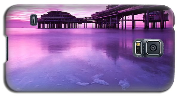 Galaxy S5 Case featuring the photograph Sunset Over The Pier by Mihai Andritoiu