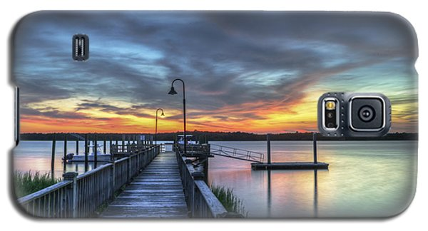 Sunset Over The River Galaxy S5 Case
