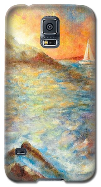 Sunset Over The Sea. Galaxy S5 Case