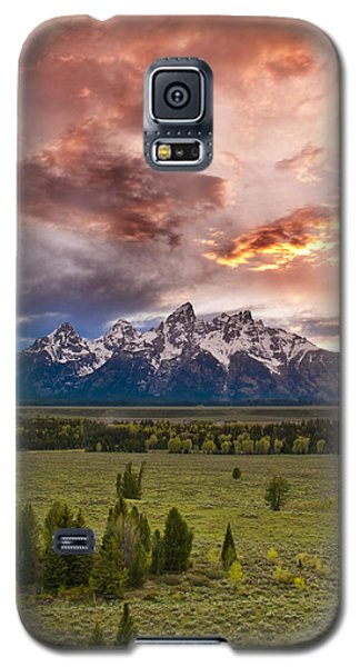 Sunset Over The Tetons  Galaxy S5 Case