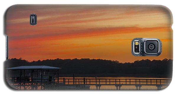 Sunset Over The Wando River Galaxy S5 Case by Dale Powell