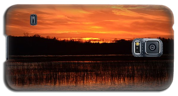 Sunset Over Tiny Marsh Galaxy S5 Case