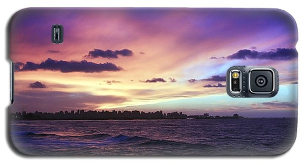 Galaxy S5 Case featuring the photograph Sunset Over Town And Sea Water by Mohamed Elkhamisy