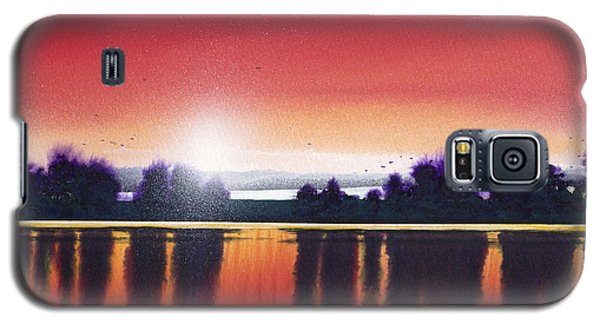 Sunset Over Two Lakes Galaxy S5 Case