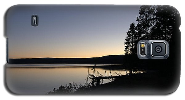 Sunset Over Yellowstone Lake Galaxy S5 Case