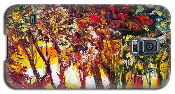 Sunset Painting Oil Fine Art Ekaterina Chenrova Galaxy S5 Case