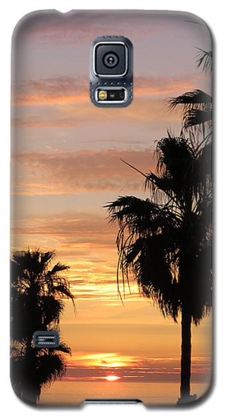 Galaxy S5 Case featuring the photograph Sunset Palms by Charles Ables