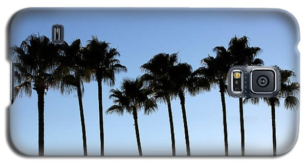 Galaxy S5 Case featuring the photograph Sunset Palms by Chris Thomas