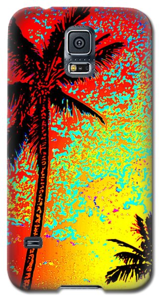 Galaxy S5 Case featuring the photograph Sunset Palms by David Lawson