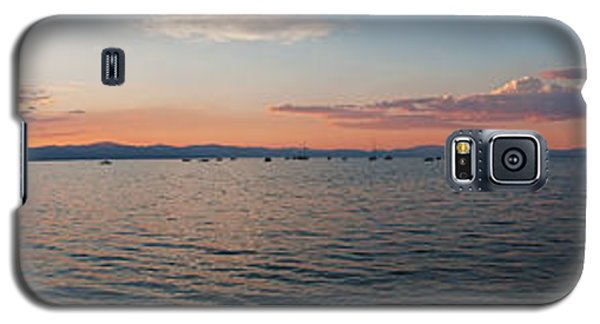Sunset Panorama At Lake Tahoe California Galaxy S5 Case by Paul Topp