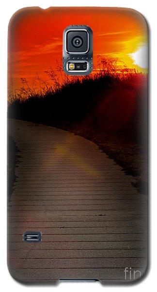 Sunset Path Galaxy S5 Case by Randall  Cogle