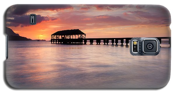 Sunset Pier Galaxy S5 Case by Mike  Dawson