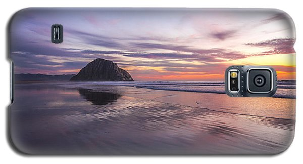 Sunset Reflections At Morro Bay Beach Rock Fine Art Photography Print Galaxy S5 Case
