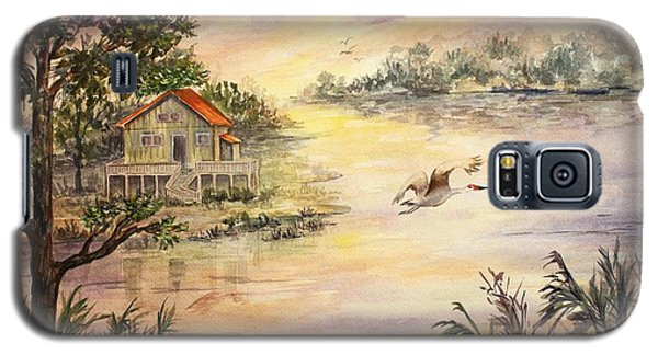 Galaxy S5 Case featuring the painting Sunset Retreat by Roxanne Tobaison