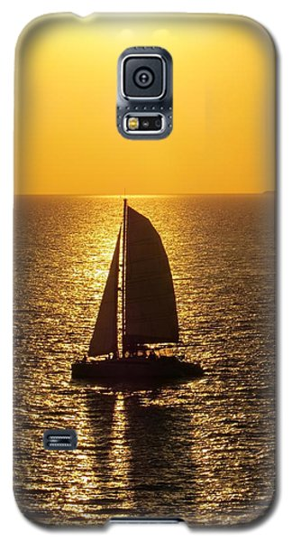 Galaxy S5 Case featuring the photograph Sunset Sail by Jennifer Wheatley Wolf