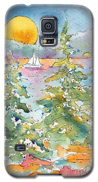 Sunset Sail On Waskesiu Lake Galaxy S5 Case by Pat Katz