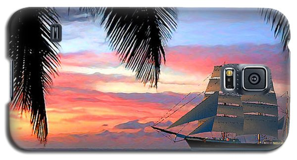 Sunset Sailboat Filtered Galaxy S5 Case