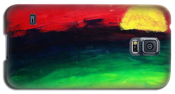 Galaxy S5 Case featuring the painting Sunset by Salman Ravish