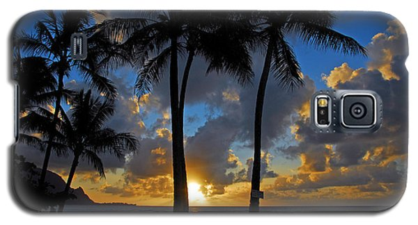 Galaxy S5 Case featuring the photograph Sunset Silhouettes by Lynn Bauer