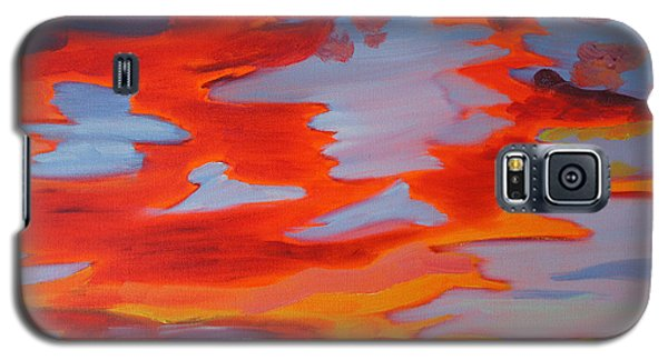 Galaxy S5 Case featuring the painting Sunset Skies by Meryl Goudey