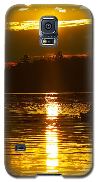 Galaxy S5 Case featuring the photograph Sunset Solitude  by Alice Mainville