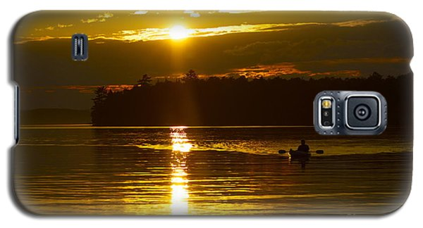 Galaxy S5 Case featuring the photograph Sunset Solitude II by Alice Mainville