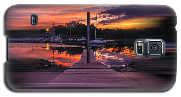 Sunset Spin Galaxy S5 Case