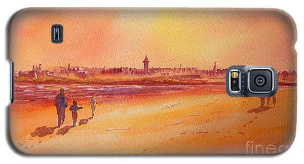 Galaxy S5 Case featuring the painting Sunset St Andrews Scotland by Beatrice Cloake