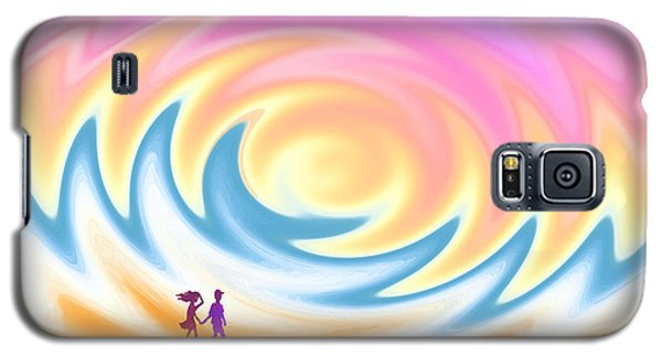 Sunset Stroll On A Windy Beach Galaxy S5 Case