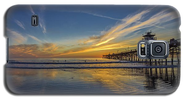 Galaxy S5 Case featuring the photograph Sunset Surf by Sean Foster