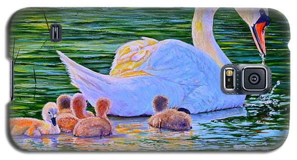Sunset Swan Family Galaxy S5 Case