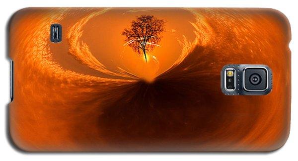 Sunset Tree Artwork Galaxy S5 Case